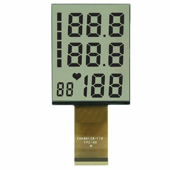 7 Segment lcd display module FPC connector Positive lcd screen