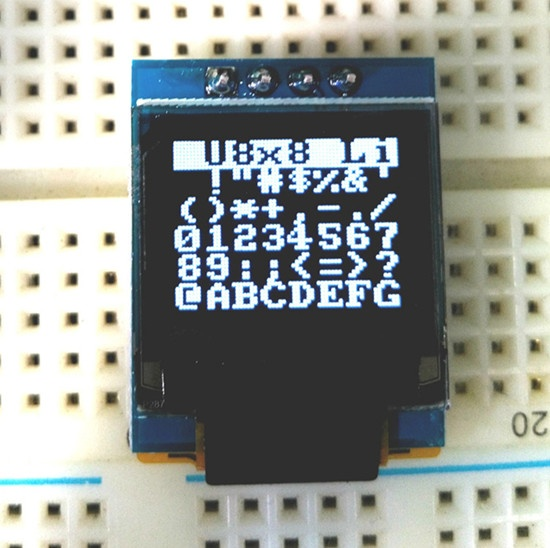 Mirco OLED screen 0.66 inch 64x48 resolution SSD1306 controller oled module
