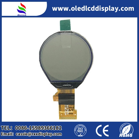 Serial 128x128 Pixels Round LCD Display Screen