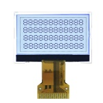 12864 pitch COG display module FSTN I2C Serial interface FPC connector white led backlight for calculator